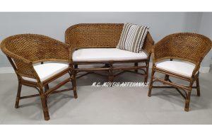 Móveis em apuí - conjunto de sofá e poltrona de apui - moveis em Vime fibra natural