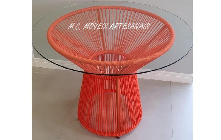 mesa-corda náutica-redonda-laranja