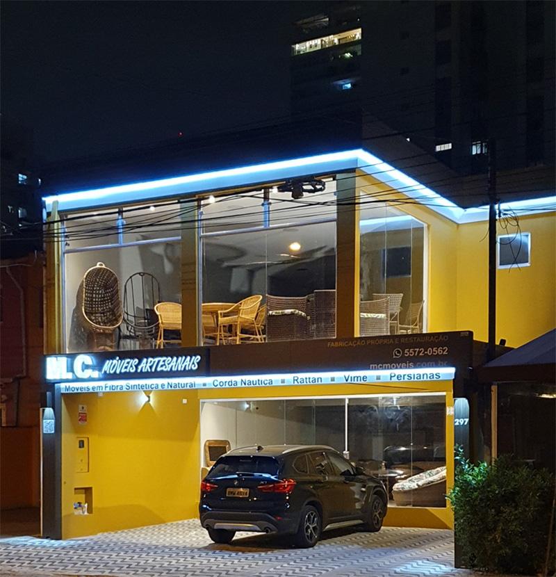 fachada mc moveis de fibra em Sao Paulo
